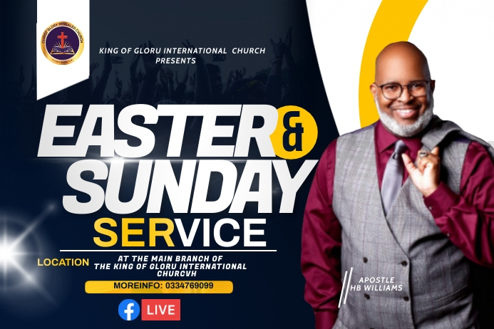 Easter flyer Tatak template