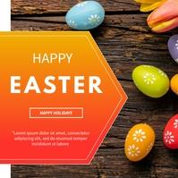 Easter flyer Publicação no Instagram template