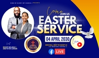 Easter flyer Etiqueta template