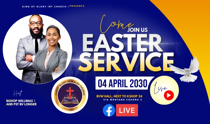 Easter flyer Tanda template
