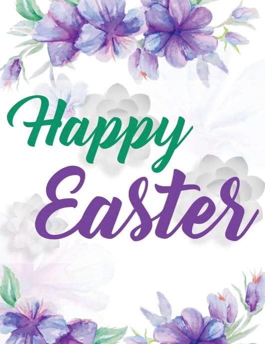 Easter Flyer Template Pamflet (Letter AS)