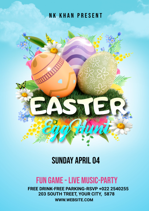 Easter Flyer Template A4