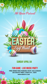 Easter Flyer Template Design Instagram-Story