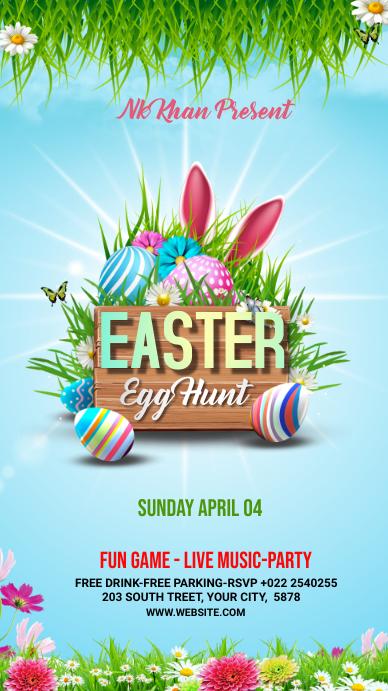 Easter Flyer Template Design