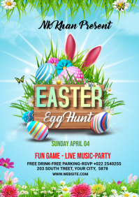 Easter Flyer Template Design A4