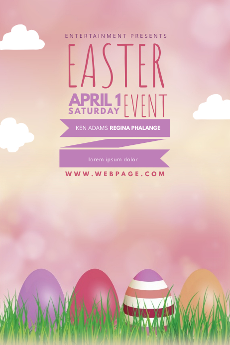Easter Flyer Template 海报