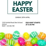 Easter flyers โพสต์บน Instagram template