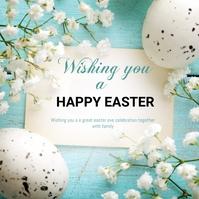 Easter flyers Сообщение Instagram template