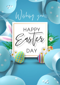 Easter flyers A3 template