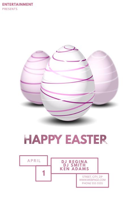 Easter Flyer Template for Easter