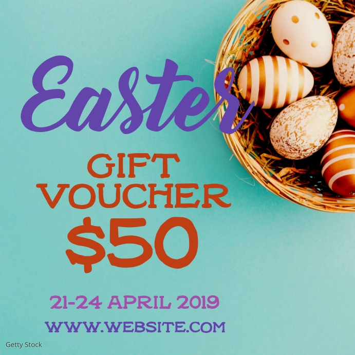 Easter Gift Voucher Message Instagram template