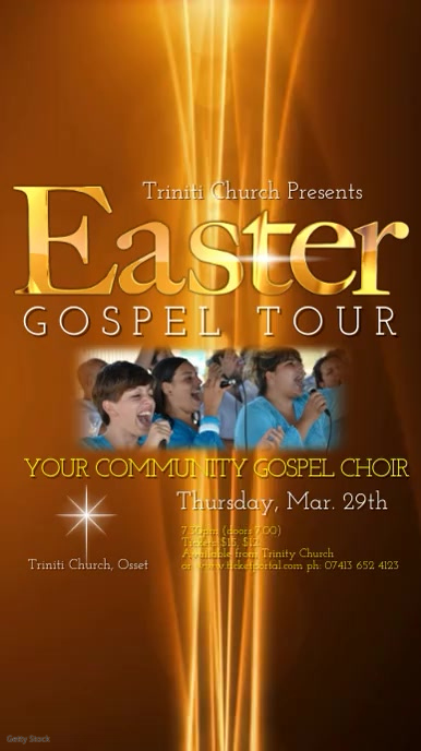 Easter Gospel Tour