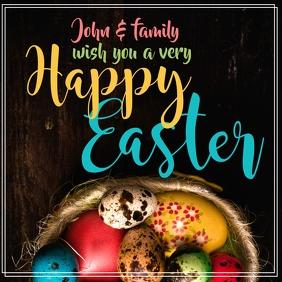 Easter Greeting Publicación de Instagram template