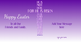 Easter-He Is Risen Facebook Shared Image template
