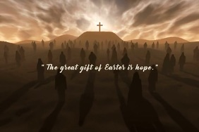 Easter Hope Video Poster Template