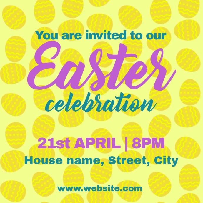 Easter invite Vierkant (1:1) template