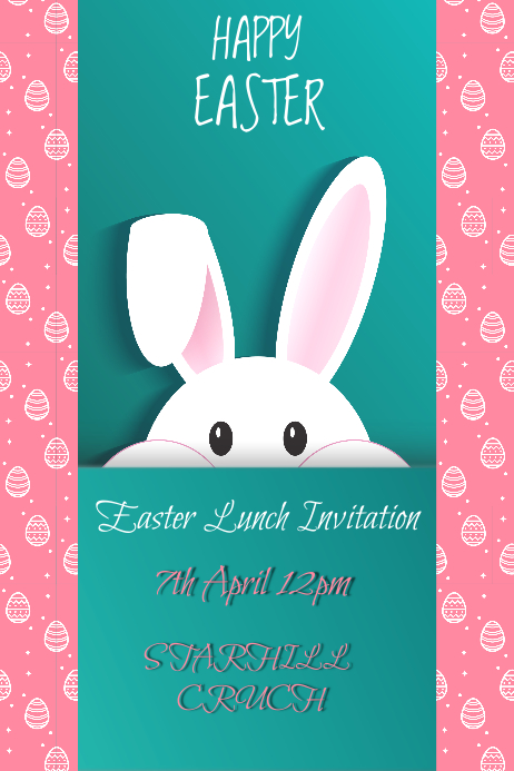easter lunch invitation template