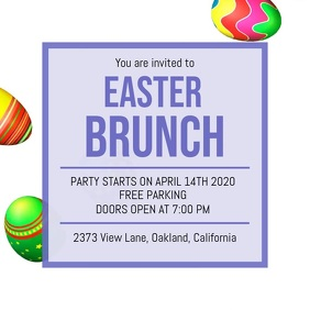 Easter Lunch Invite Video Template