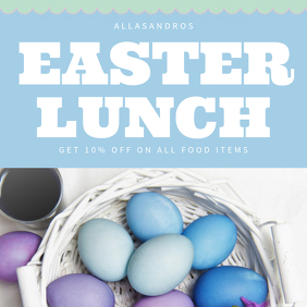 Easter Lunch Restaurant Promo template