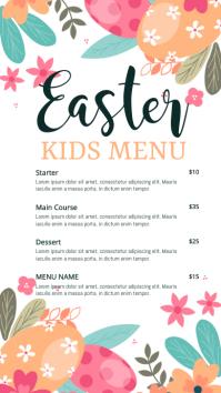 easter menu, easter, menu Digital Display (9:16) template