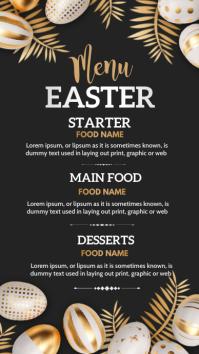 Easter menu,menu Instagram-verhaal template