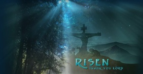 Easter Message auf Facebook geteiltes Bild template