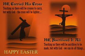 Easter Message Poster