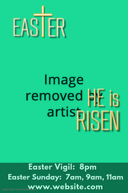 Easter Message Poster Template