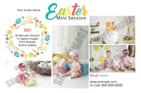 Easter Mini Session Этикетка template