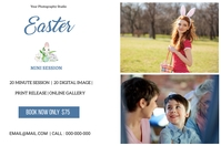 Easter Mini Session Etykieta template