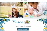 Easter Mini Session Etiket template