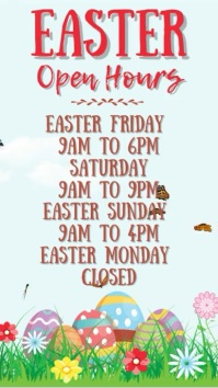 Easter Open Hours Digital Template