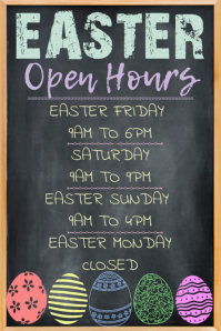 Easter Open Hours Poster Template