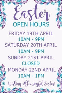 Easter Open Hours Template