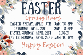 Easter Opening Hours Poster Template