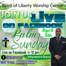 Easter or Palm Sunday Flyer