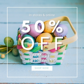 Easter Outfit Sale Instagram Post Template