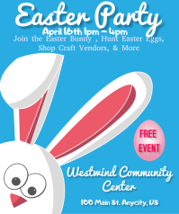Easter Party & Craft Vendors Stort rektangel template