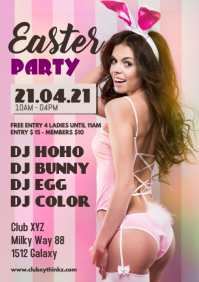 Easter Party Advert Promo Club Bar Event Bunny Woman Sexy