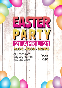 Easter Party Celebration Dj Club Egg Ad wood