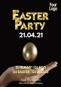 Easter Party Celebration Dj Club Gold Egg Ad