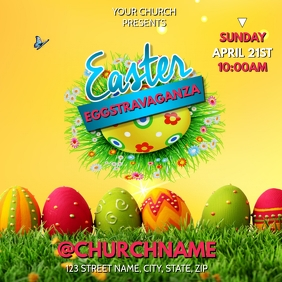 EASTER PARTY CHURCH FLYER
