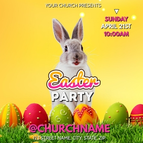 EASTER PARTY CHURCH FLYER TEMPLATE