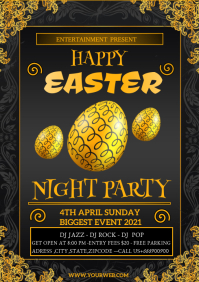 EASTER PARTY A4 template