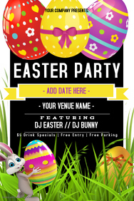 Easter Party Event Flyer Poster