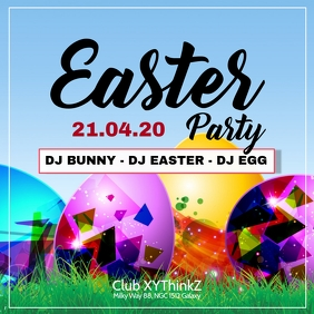 Easter Party Event Picture Square Promo Advert Club Bar Eggs