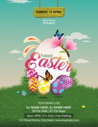 Easter Party Flyer Folder (US Letter) template