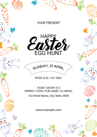Easter Party Flyer A4 template