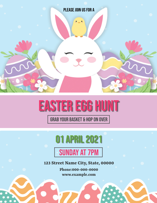 Easter Party Flyer Pamflet (Letter AS) template