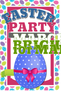 Easter poster templates postermywall for Party wall letter template